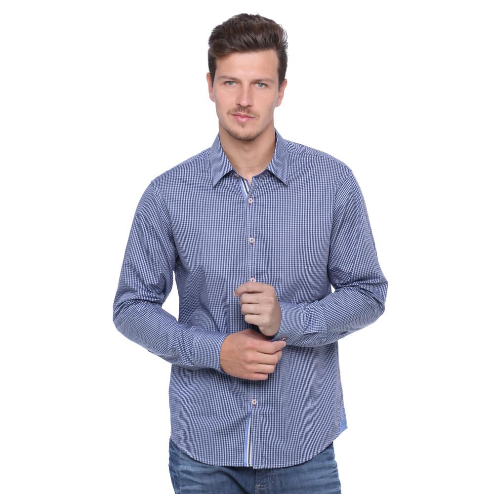 Camisa masculina social damyller for Jardineira masculina c a