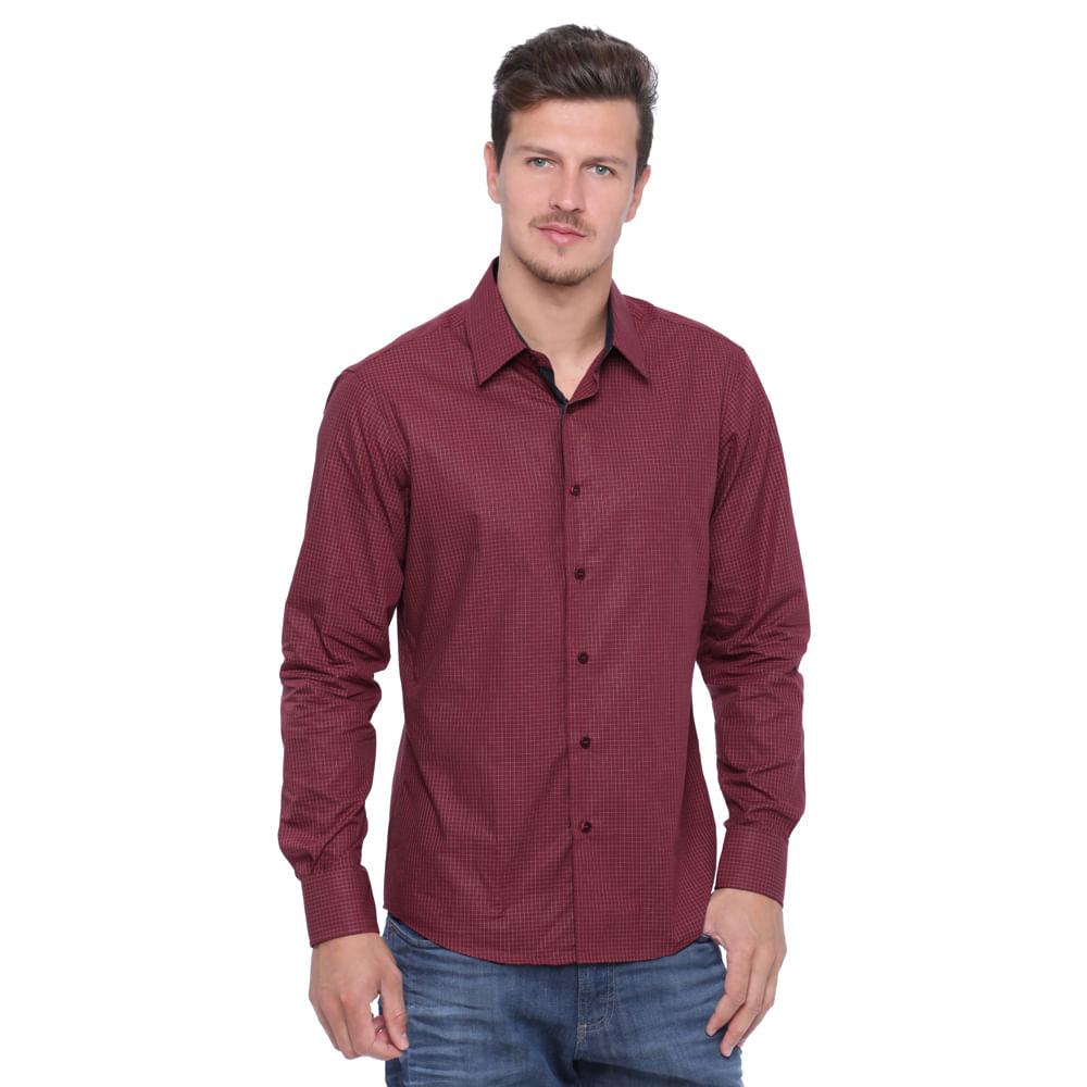 Camisa masculina manga longa damyller for Jardineira masculina c a