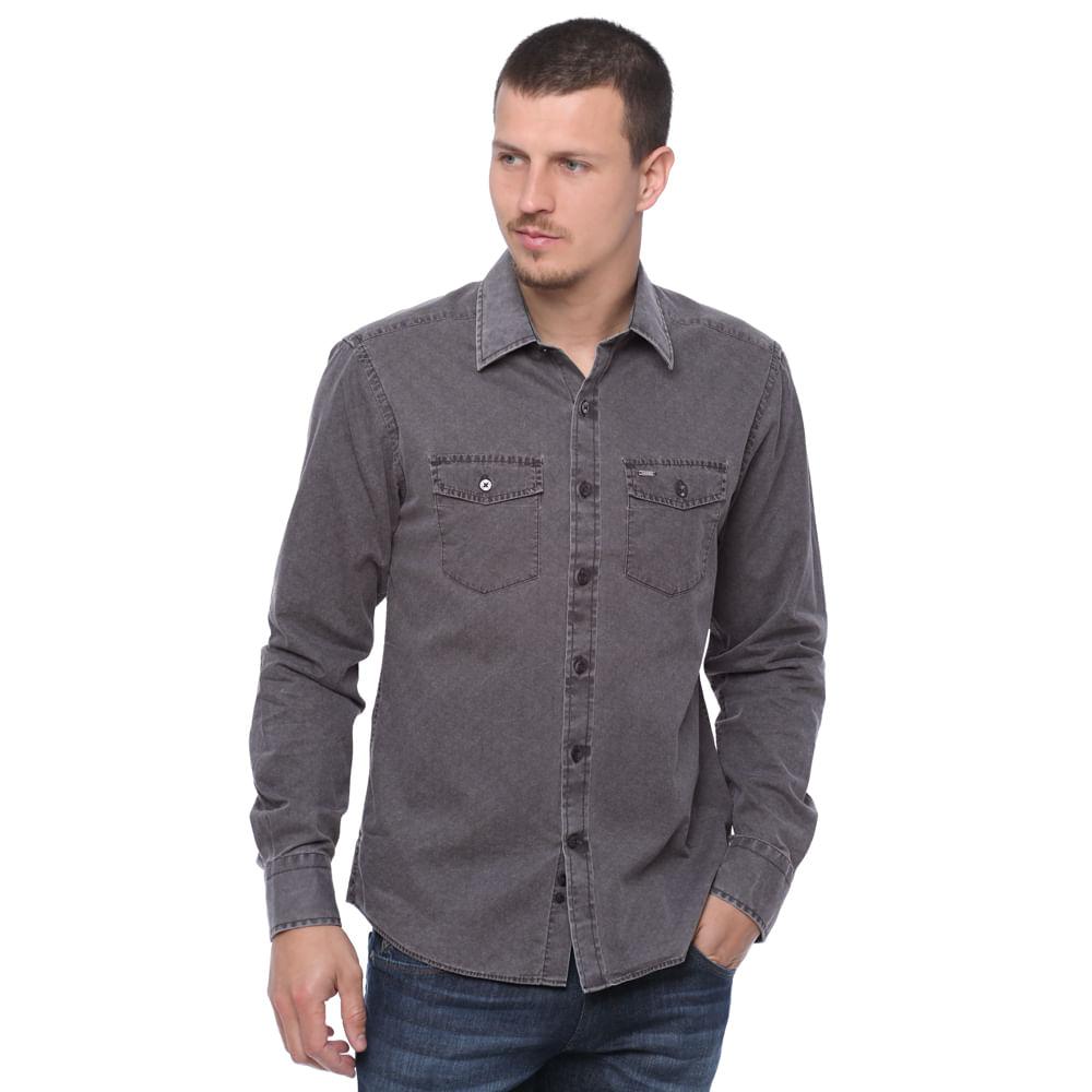 Camisa masculina de algod o damyller for Jardineira masculina c a