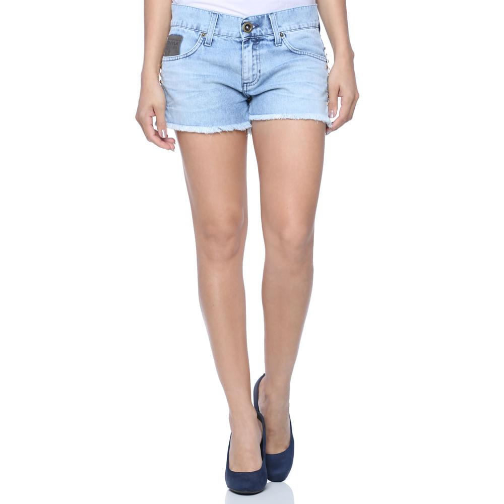 Mini Shorts Boyfriend Feminino Jeans