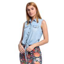 Camisa-Feminina-Jeans-sem-Manga-Frente--