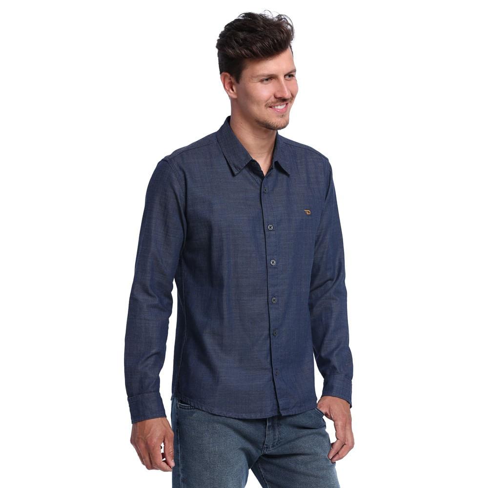 Camisa Feminina Jeans Bolsos Marisa   Marisa