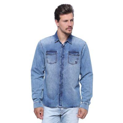 Camisa-Masculina-Manga-Longa-Jeans-Frente--