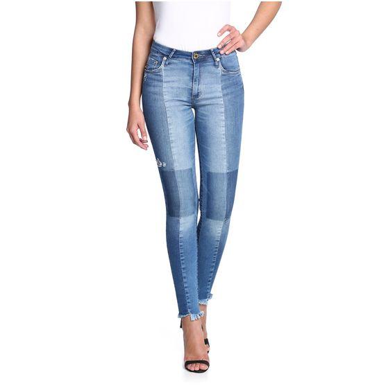 Calça Cigarrete Jeans Patch