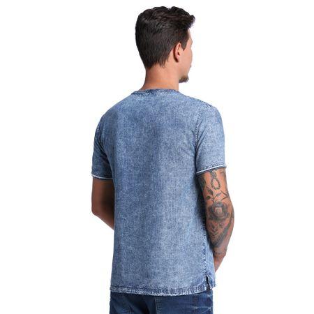 Camiseta-Jeans-com-Bolso-Masculina-Costas--
