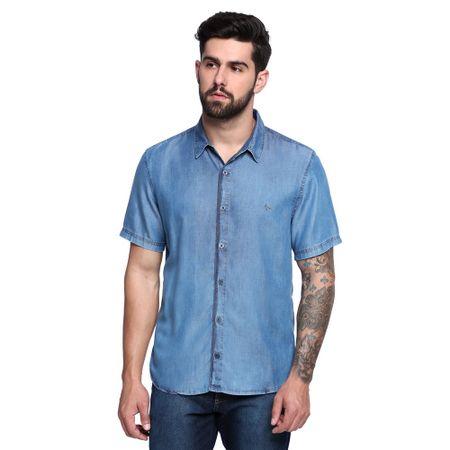 Camisa-Jeans-Manga-Curta-Masculina-Frente--