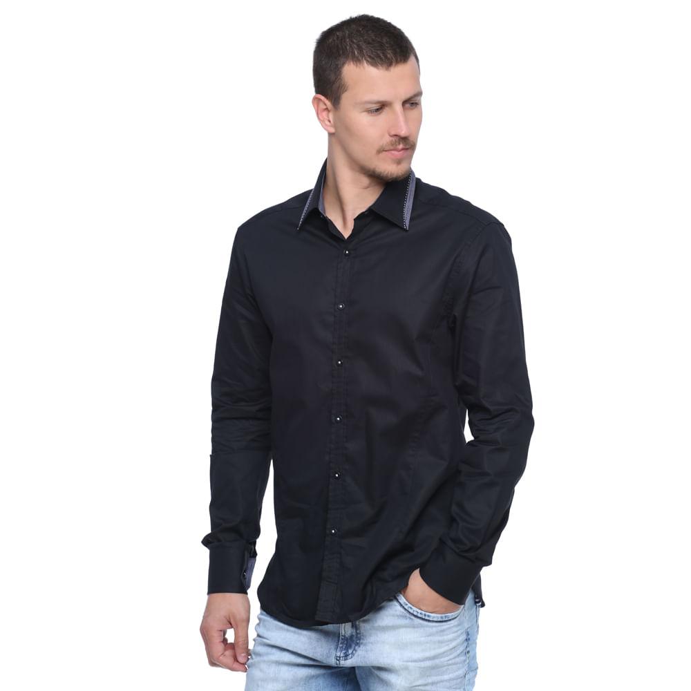 Camisa social masculina manga longa damyller for Jardineira masculina c a