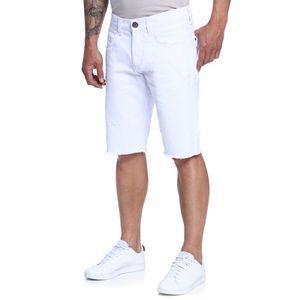 Bermuda-Masculina-Skinny-Branca-Frente--