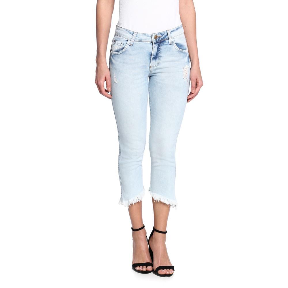 Calu00e7a Jeans Capri Feminina - Damyller