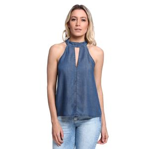 Blusa-Jeans-Decote-Vazado-Feminina-Frente--