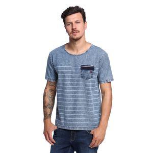 Camiseta-Jeans-de-Listras-Masculina-Frente--
