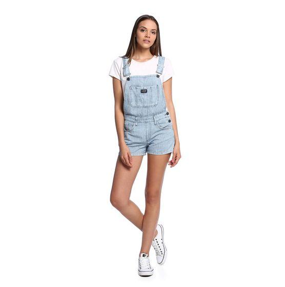 Jardineira jeans feminina damyller for Jardineira jeans feminina c a