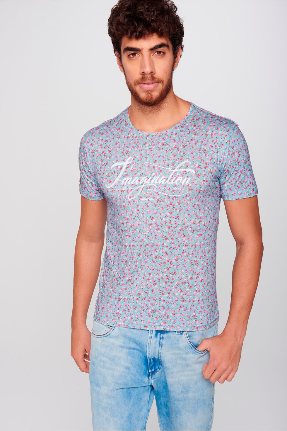 Camiseta-Floral-Unissex-Frente--