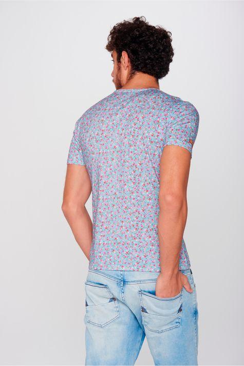 Camiseta-Floral-Unissex-Costas--