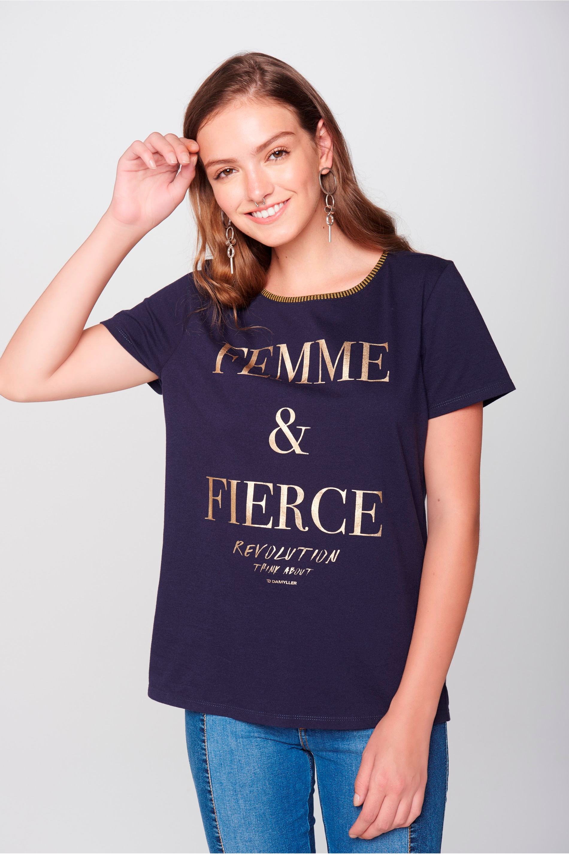 Damyller · Moda Feminina · Blusas · Camiseta. abrir dcb20aeb526