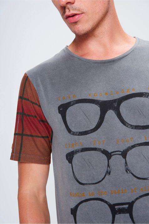 Camiseta-Manga-Xadrez-Unissex-Frente--
