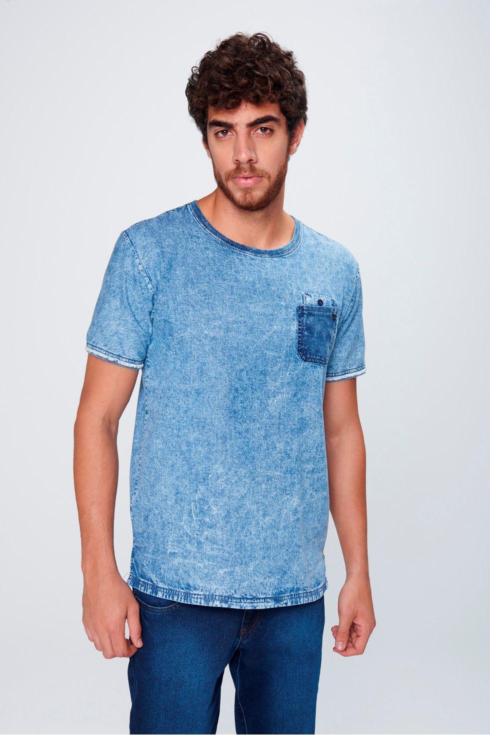 Camiseta-Jeans-com-Bolso-Masculina-Frente--