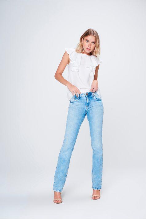 1c2e96e2eb Calça Jeans Reta Destroyed com Fendas - Damyller