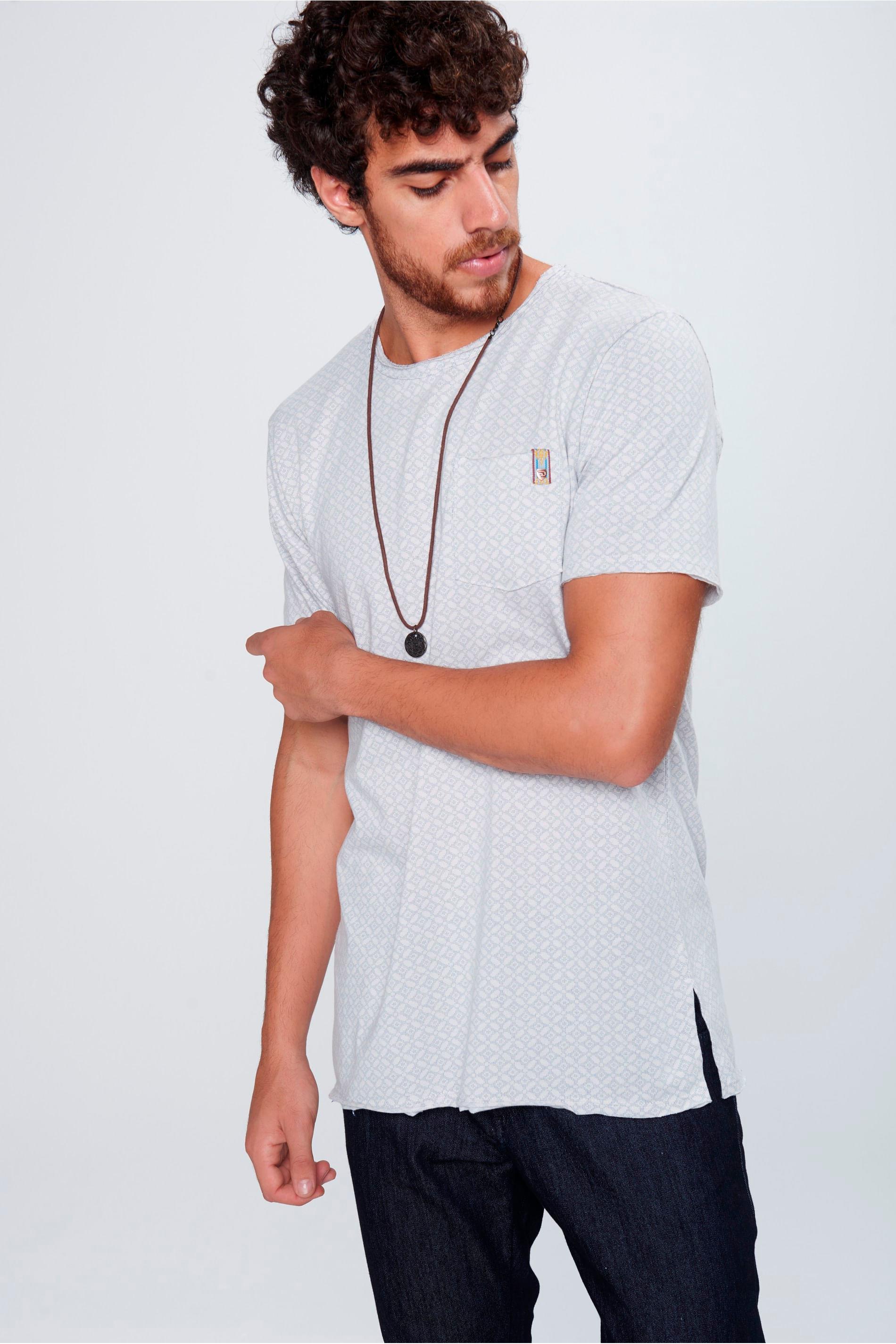 Camiseta Long Line Masculina - Damyller 0c4b4931f1a