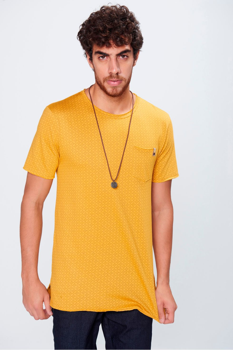c5746cf94efb4 Camiseta Long Line Masculina - Damyller