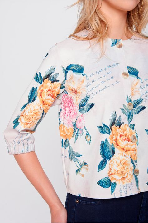 Casaqueto Floral-Feminino-Frente--
