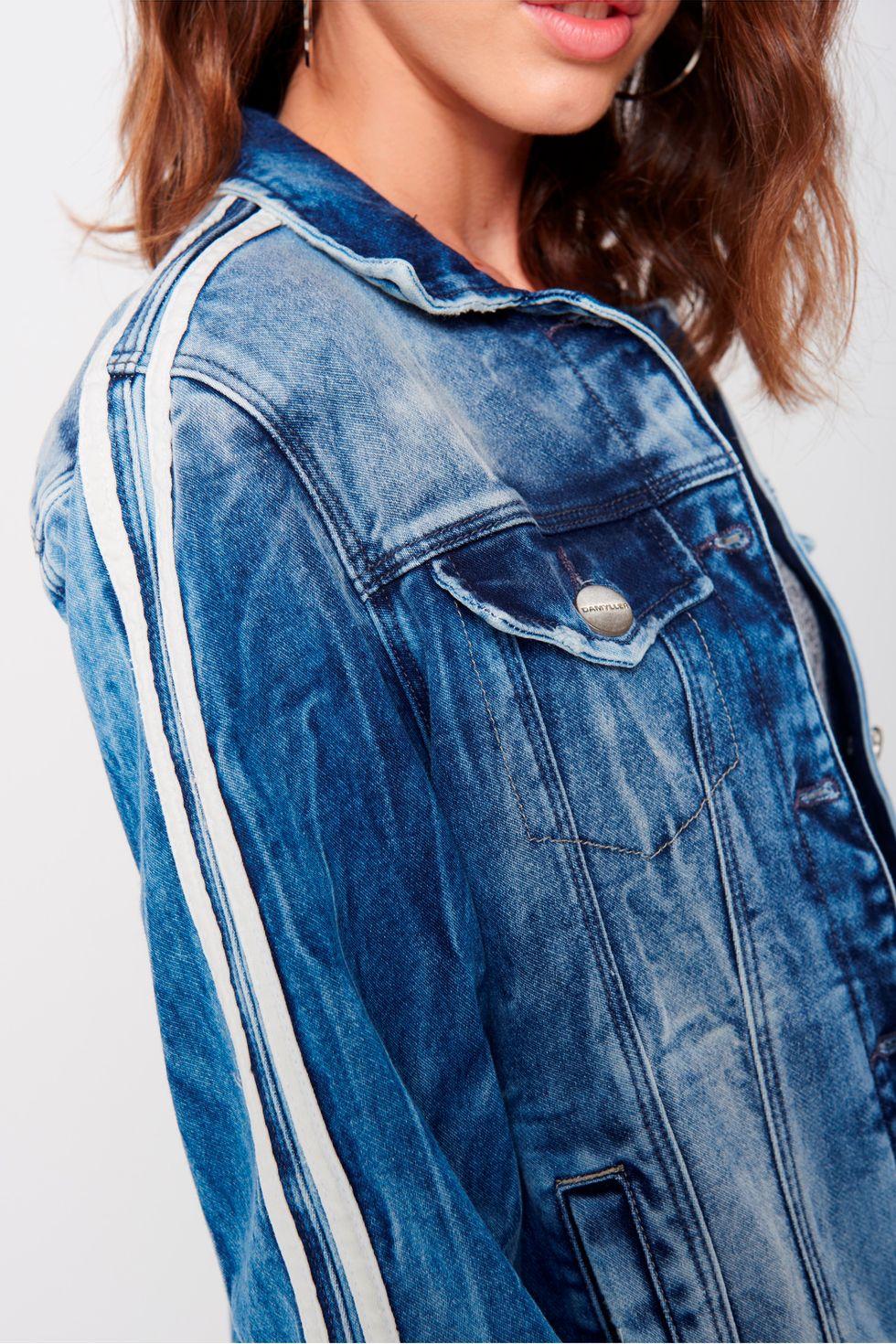 Jaqueta Jeans Trucker Feminina-Detalhe--