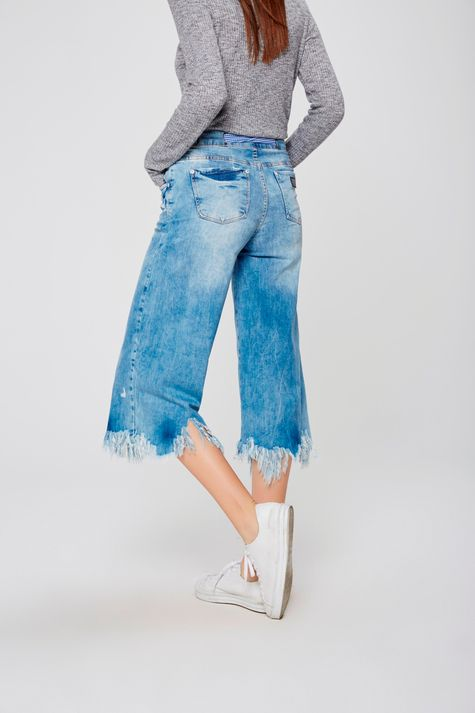 Calca-Pantacourt-Jeans-Feminina-Costas--