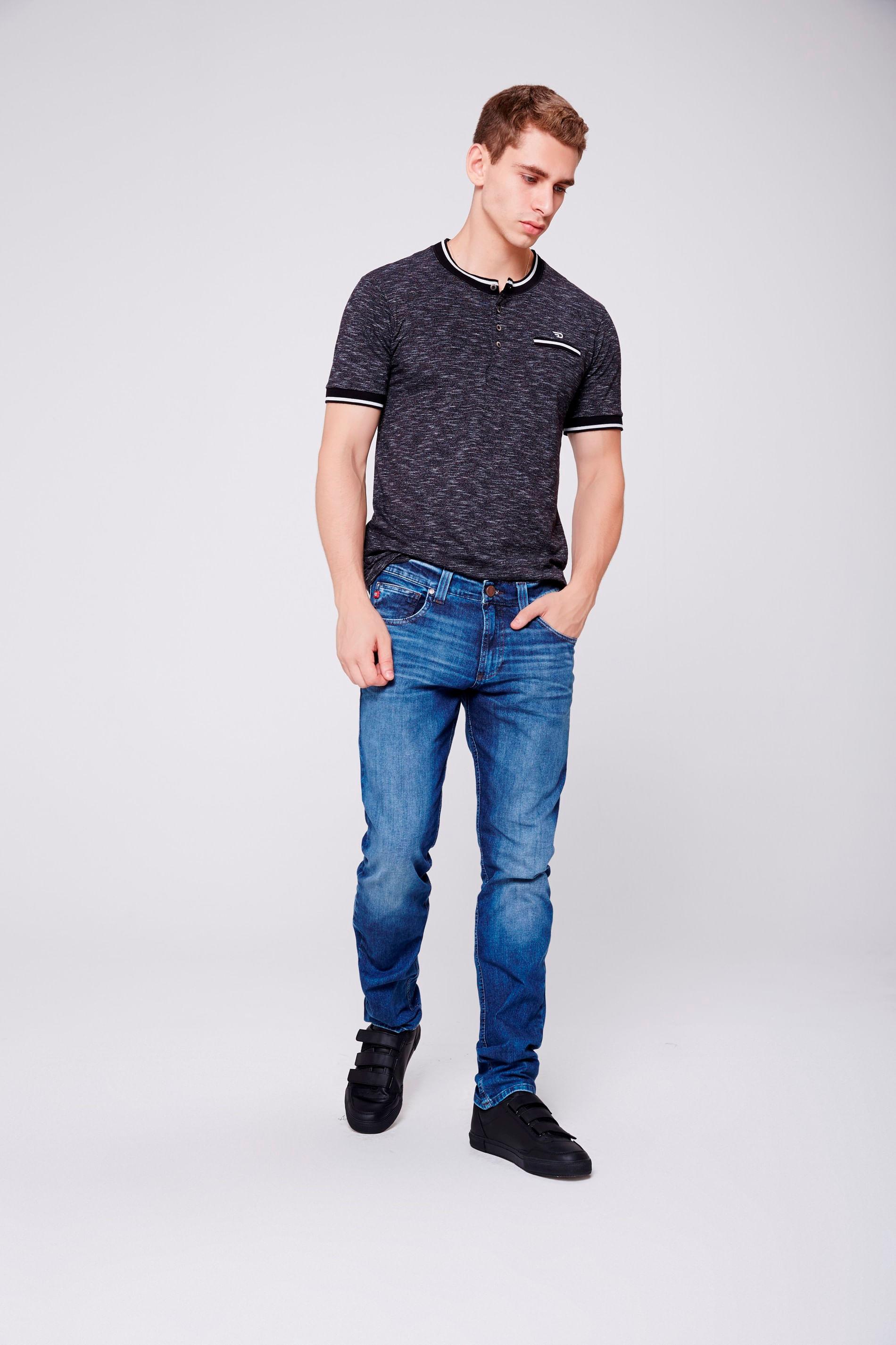 4b50c285f8d2e Calça Jeans Masculina Skinny - Damyller