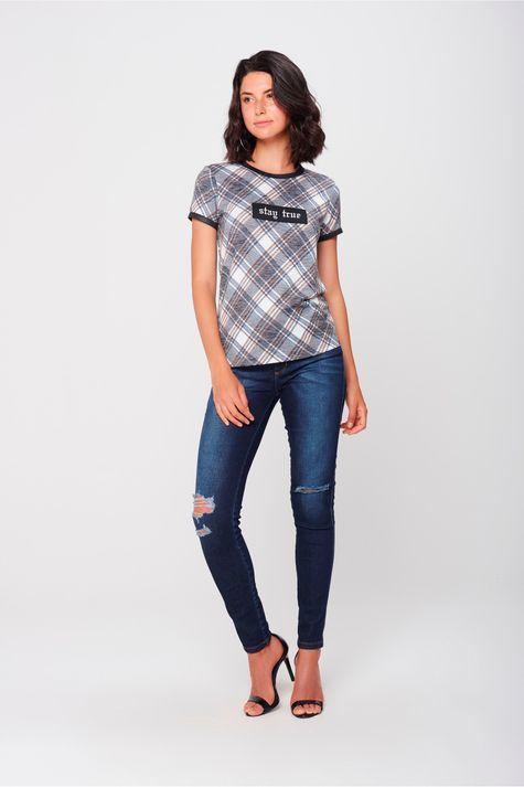 Camiseta Xadrez Feminina - Damyller 8ddd6cb3fb2
