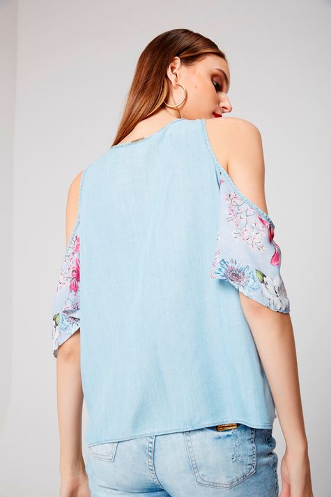 Bata-Jeans-Floral-Feminina-Frente--
