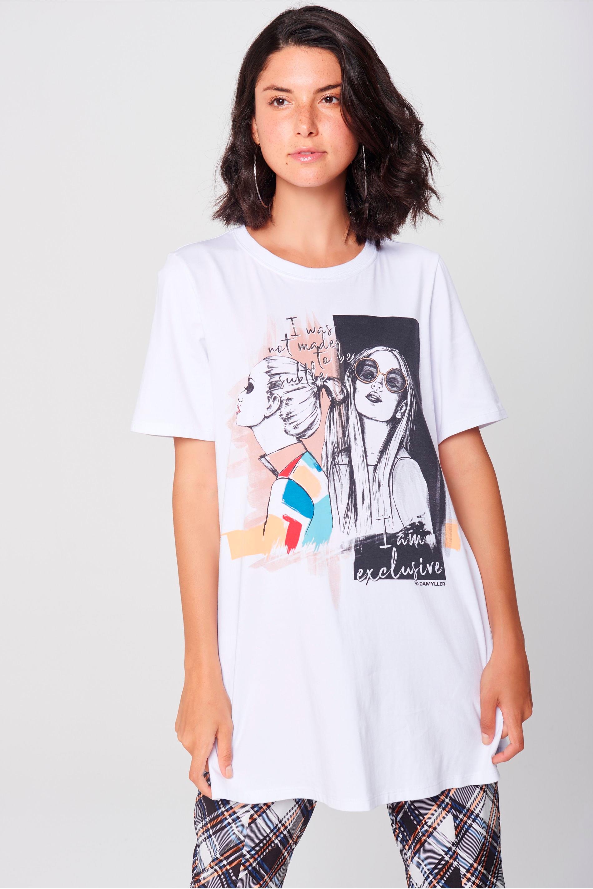 Camiseta Longa Feminina - Damyller ae106985e857f