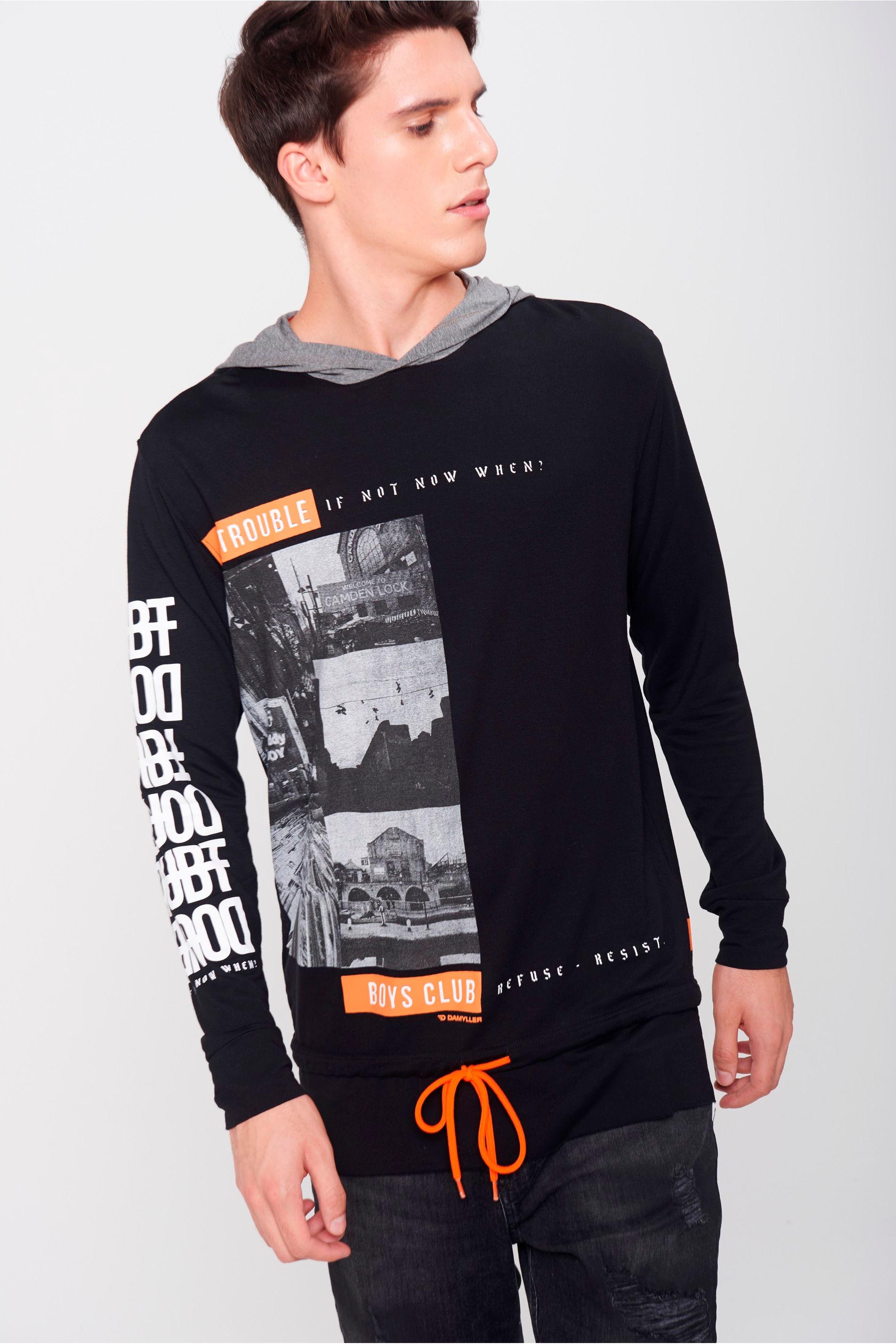 Damyller · Moda Masculina · Camiseta · Manga Longa. abrir 100fd6bcaa7e1