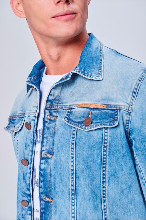 Jaqueta-Jeans-Trucker-Unissex-Detalhe-1-Masculina--
