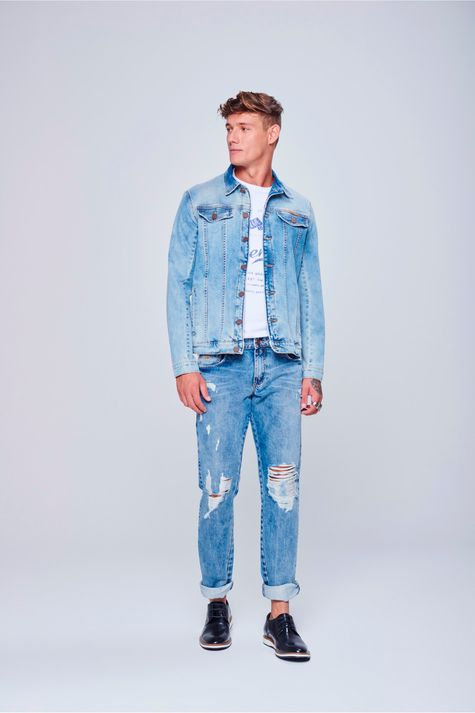 Jaqueta-Jeans-Trucker-Unissex-Detalhe-2-Masculina--