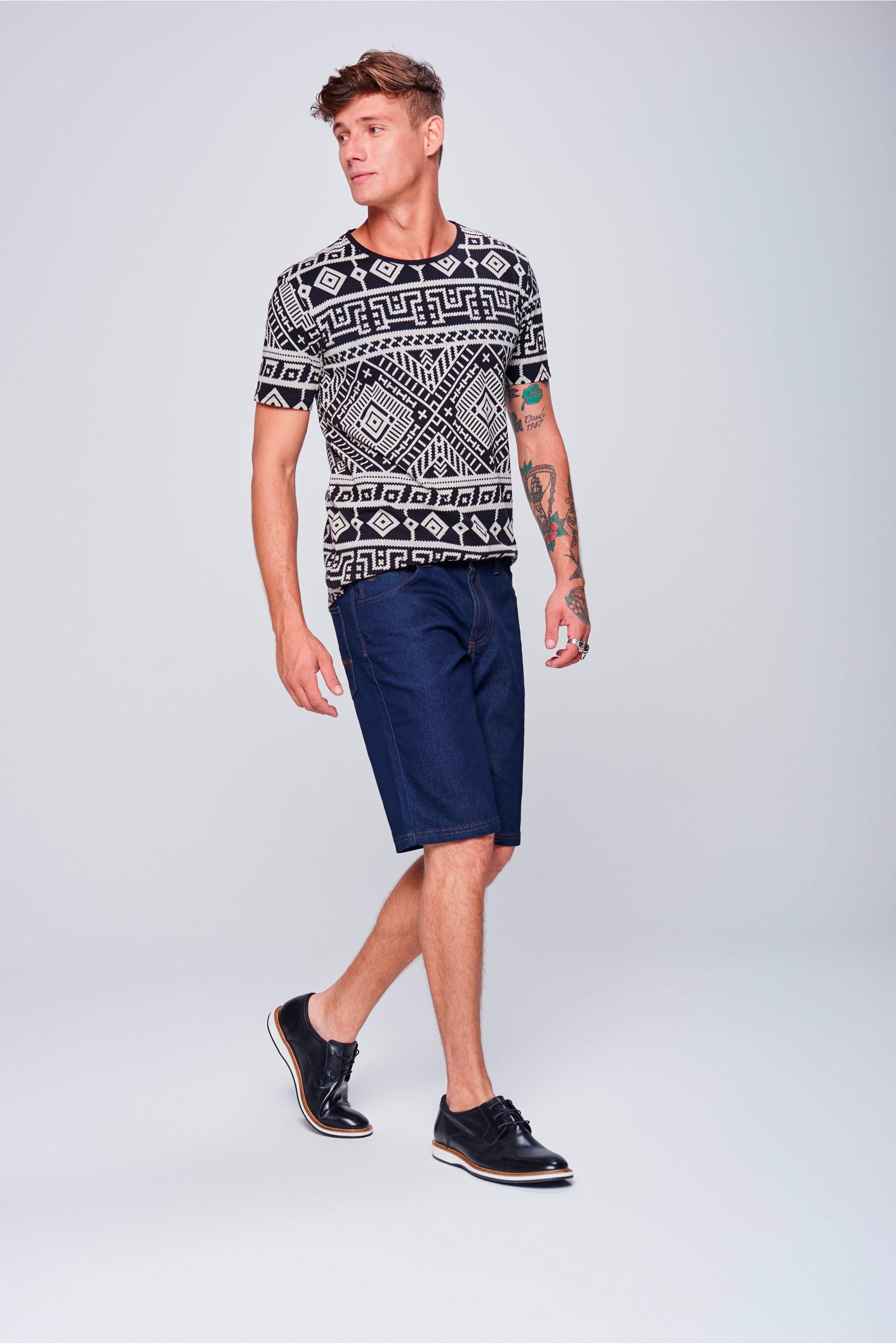 Bermuda Jeans Reta Masculina - Damyller d9caef689bc46