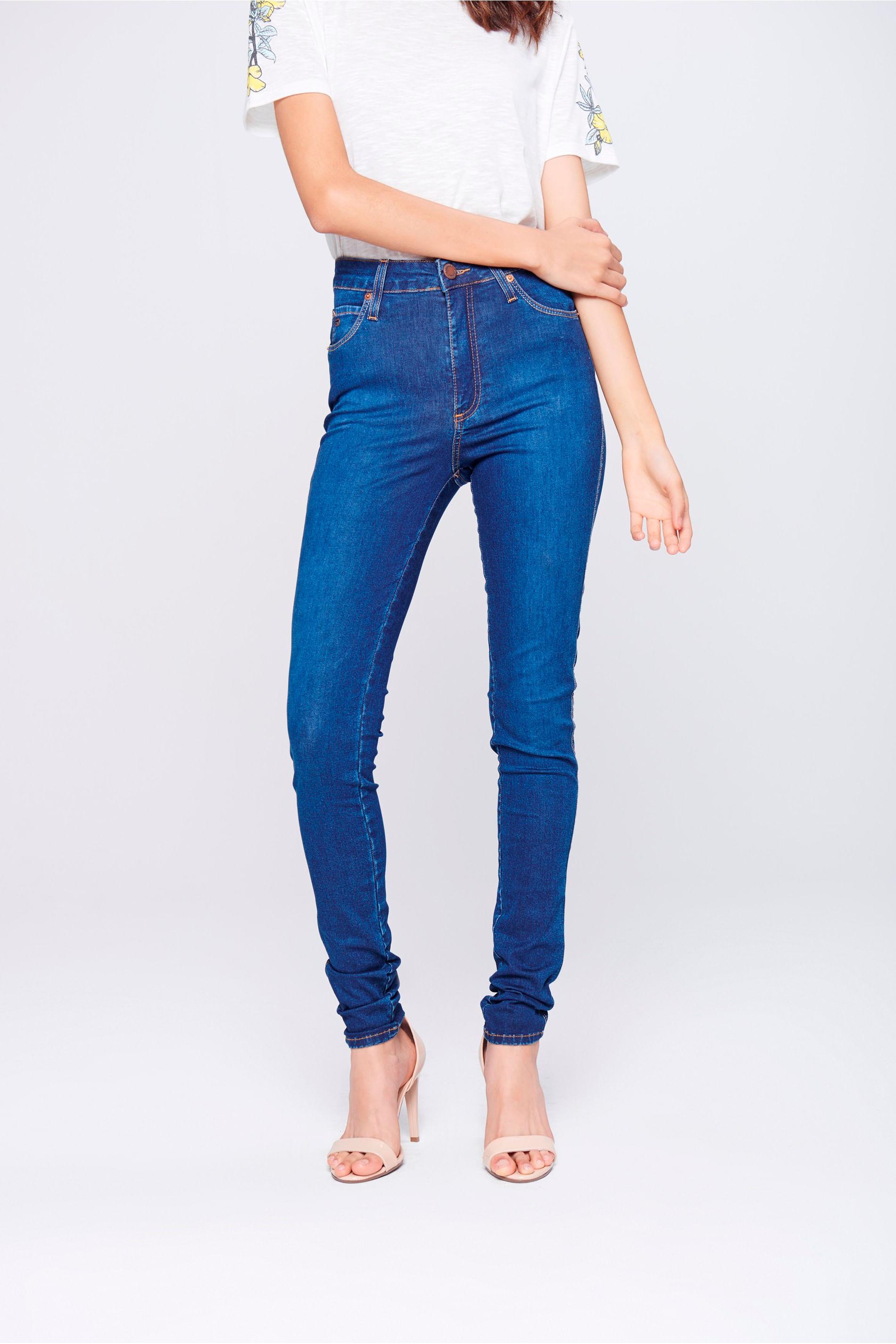 67092e8da Calça Jeans Skinny Cintura Alta - Damyller