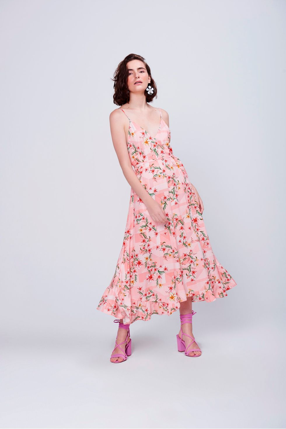 Vestido-Midi-Floral-Babado-Barra-Frente--
