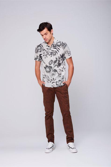 Camisa-Unissex-Estampa-Floral-Frente--
