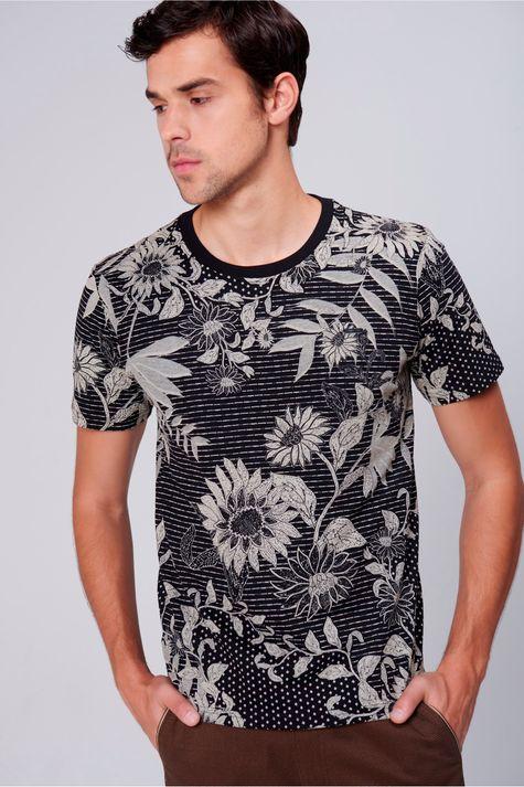 Camiseta-Unissex-Estampa-Floral-Frente--