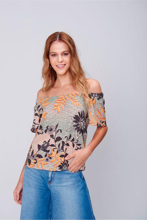 Blusa-Decote Ombro-a-Ombro-Floral-Frente--