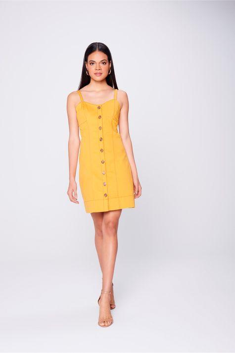 Vestido-Color-com -Recorte-e-Botoes-Frente--
