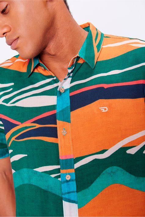 Camisa-Unissex-Estampada-Viscose-Frente--