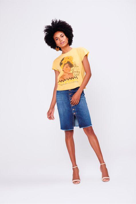 Camiseta-Tingida-Estampa-Florescer-Frente--