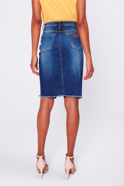 Saia-Secretaria-Jeans-com-Abotoamento-Costas--