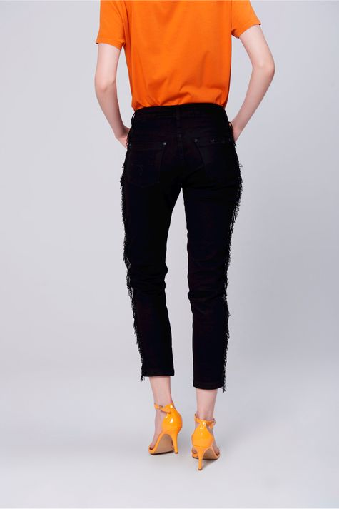 Calca-Jegging-Cropped-Color-com-Franjas-Costas--