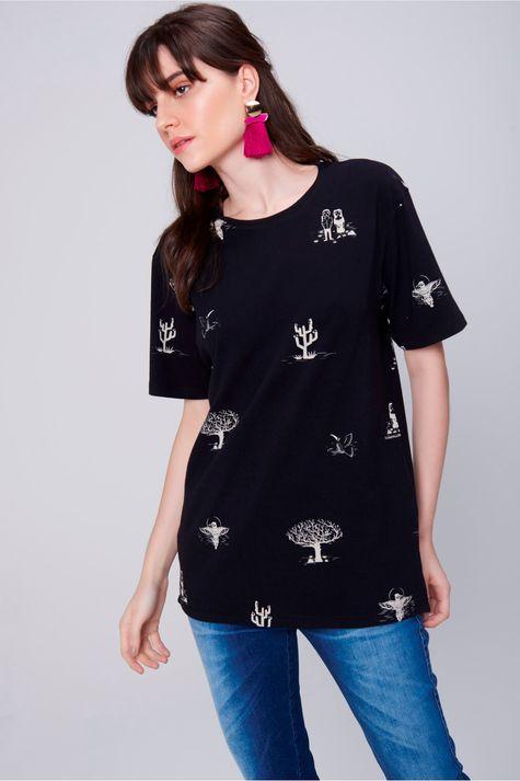 Camiseta-Estampa-de-Repeticao-Unissex-Frente--