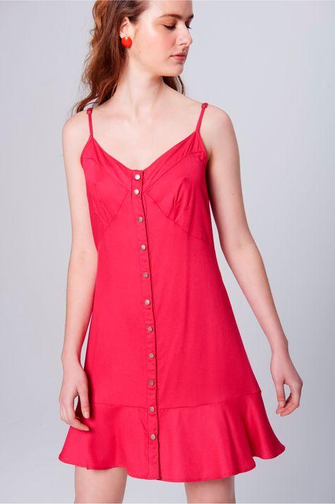Vestido-Feminino-Curto-Botoes-Frontais-Frente--