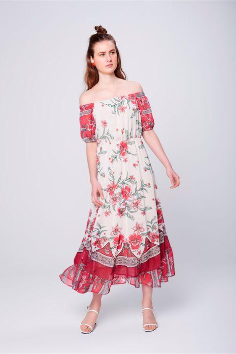 Vestido-Longo-Fluido-com-Estampa-Floral-Frente--
