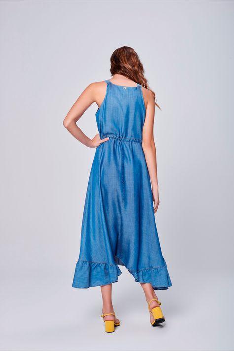 Vestido-Jeans-Longo-com-Babado-na-Barra-Costas--
