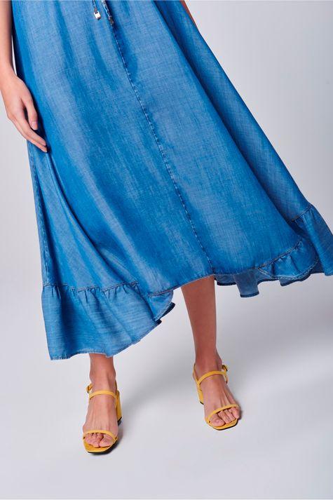 Vestido-Jeans-Longo-com-Babado-na-Barra-Frente--